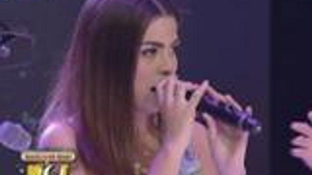 Alexa Ilacad sings Break Free on GGV