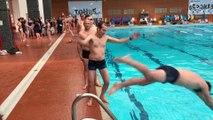 Répétition du programme de natation synchronisée des hommes du club de natation artistique de Tours