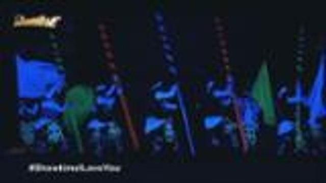 Neon light performance ng  Kuragtong sa Halo Halloween