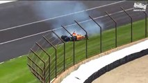 Indycar - Raw Video Fernando Alonso crashes during 2019 Indy 500 practice