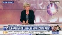 "Européennes: ""Emmanuel Macron a nationalisé le scrutin"", affirme Nadine Morano"