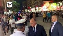 محافظ القاهرة يقود حملة لإزالة إشغالات الباعة بوسط البلد