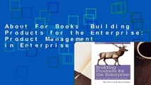 About For Books  Building Products for the Enterprise: Product Management in Enterprise Software