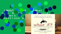 [MOST WISHED]  What If?: Serious Scientific Answers to Absurd Hypothetical Questions by Randall