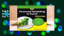 Full E-book Financial Modeling in Excel for Dummies  For Trial
