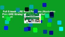 Full E-book  GRE Word Problems (Manhattan Prep GRE Strategy Guides)  Best Sellers Rank : #1
