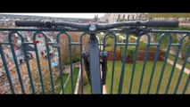 Petite frayeur pendant un downhill urbain à VTT (Blois)