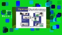Spinal Stabilization - The New Science of Back Pain  For Kindle