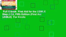Full E-book  First Aid for the USMLE Step 2 CS, Fifth Edition (First Aid USMLE)  For Kindle