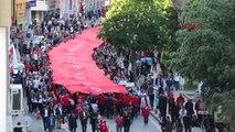 Samsun 1919 Metre Türk Bayrağı ile Şehir Turu- Tekrar