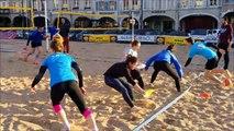 Le club de volley de Pont-a-Mousson s'entraine place Duroc