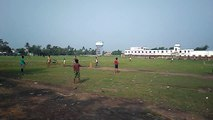 Boys Cricket match in West Bengal.