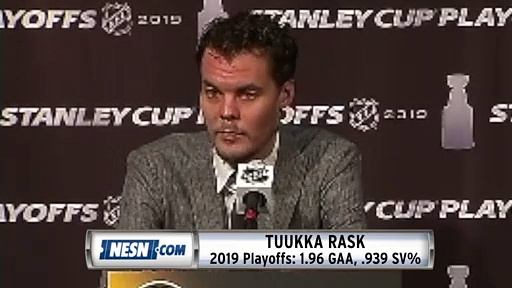 Tuukka Rask On Being 'In The Zone' During Stanley Cup Playoffs