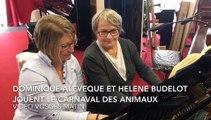 Vidéo. Un extrait du Carnaval des Animaux de Sainnt-Saëns joué par deux enseignantes de l'école de musique de Remiremont