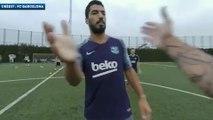 Dans les yeux de Lionel Messi à l'entraînement