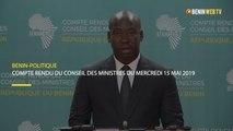 Bénin : compte rendu du conseil des ministres du mercredi 15 mai 2019
