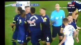 Gaetano Berardi sent off for going insane against Derby!