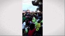 Manifestação na pracinha de Jucutuquara, Vitória