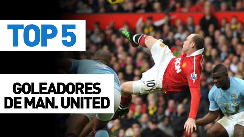 Top 5 goleadores del Manchester United