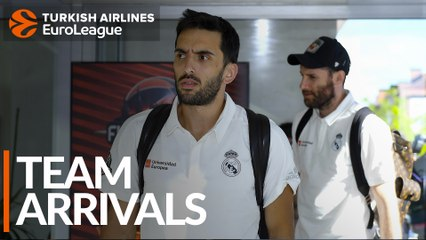 Team Arrivals: Real Madrid