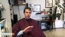 Beto O'Rourke Gets A Haircut During Facebook Livestream
