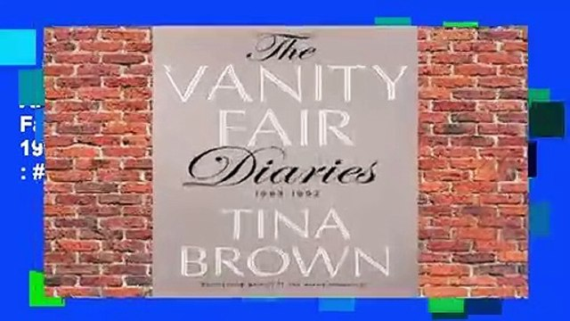 About For Books  The Vanity Fair Diaries: 1983 - 1992  Best Sellers Rank : #1