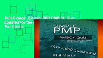 Full E-book  Simple PMP PMBOK Quiz: Updated for the PMBOK Guide Sixth Edition  For Kindle