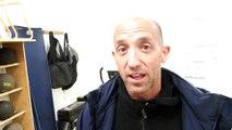 L'entraîneur  de Raon-l'Etape, Michaël Grand, réagit après la victoire de l'US Raon