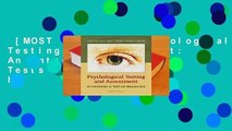 [MOST WISHED]  Psychological Testing and Assessment: An Introduction to Tests and Measurement by