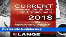 CURRENT Practice Guidelines in Primary Care 2018  Best Sellers Rank : #4