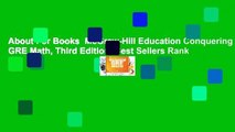 About For Books  McGraw-Hill Education Conquering GRE Math, Third Edition  Best Sellers Rank : #3
