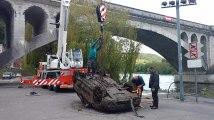 Voiture repêchée en Meuse à Huy