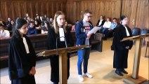 Tribunal de Sarreguemines : les jeunes du lycée Poncelet de Saint -Avold à la barre