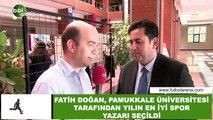 Fatih Doğan, Pamukkale Üniversitesi tarafından yılın en iyi spor yazarı seçildi
