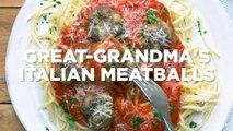 Great Grandma s Italian Meatballs