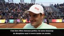"""Rome - Federer : """"J'ai été chanceux contre Coric"""""""
