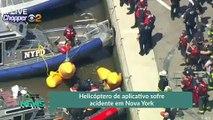Helicóptero de aplicativo sofre acidente em Nova York