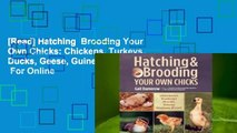 [Read] Hatching  Brooding Your Own Chicks: Chickens, Turkeys, Ducks, Geese, Guinea Fowl  For Online