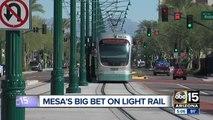 Downtown Mesa showing progress in development after light rail arrival