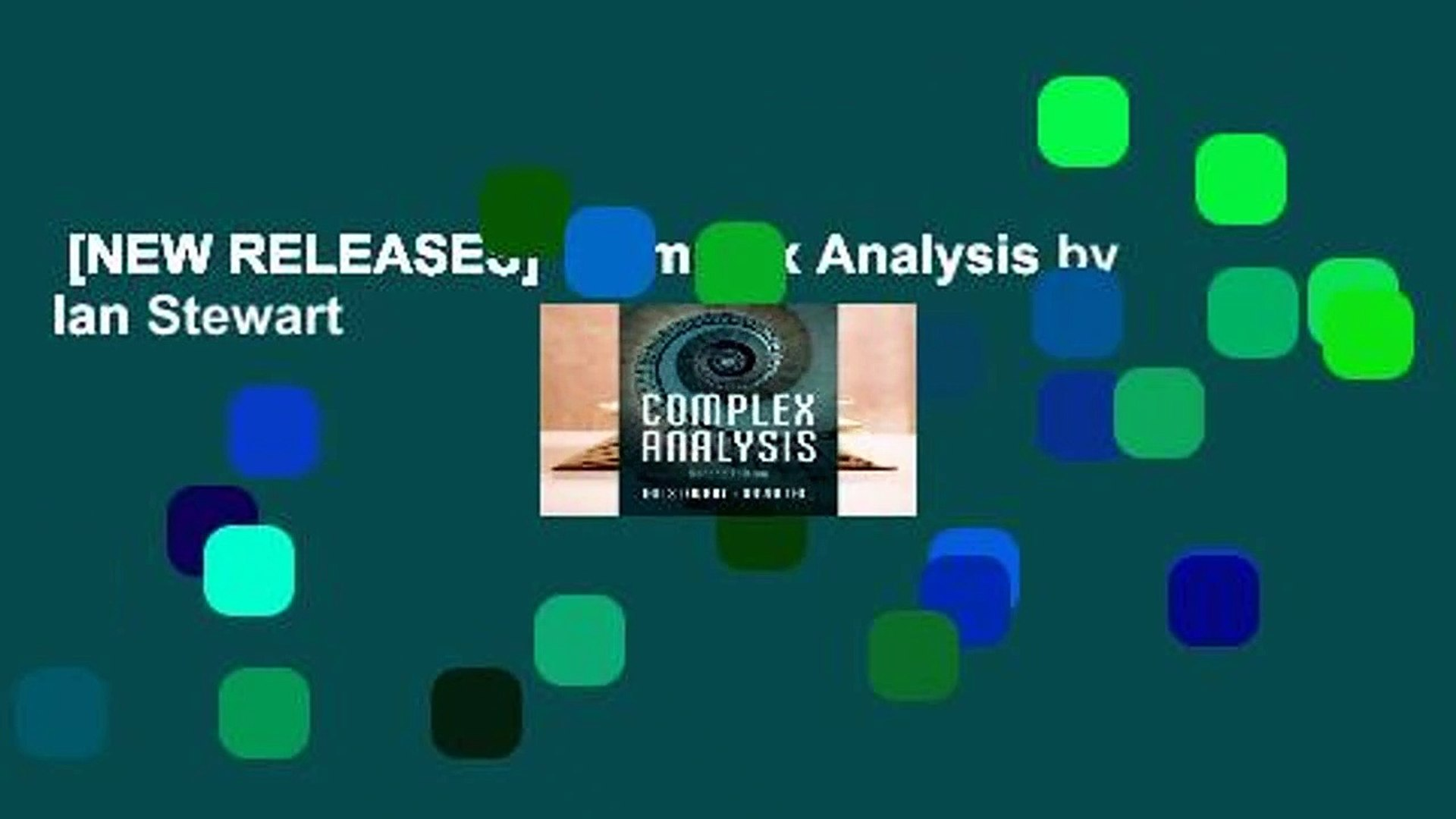 [NEW RELEASES]  Complex Analysis by Ian Stewart
