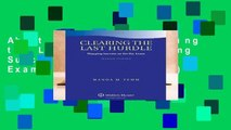 About For Books  Clearing the Last Hurdle: Mapping Success on the Bar Exam (Academic Success)