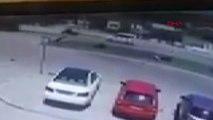 280 Km Hızla Yapılan Motosiklet Kazasının Güvenlik Kamera Görüntüsü Ortaya Çıktı
