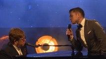 Targon Egerton & Elton John perform 'Rocketman' at Cannes
