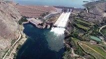 Keban Baraj Gölü'nün tahliye kapakları 15 yıldır ilk kez açıldı - ELAZIĞ