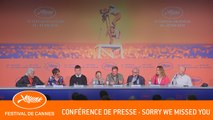SORRY WE MISSED YOU - Conférence de presse - Cannes 2019 - VF