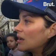 Marion Cotillard marches for the climate