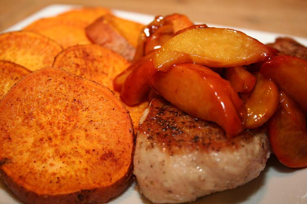 Peach Smothered Pork Chops