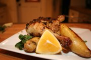 Roasted Half Chicken with Lemon and Oregano
