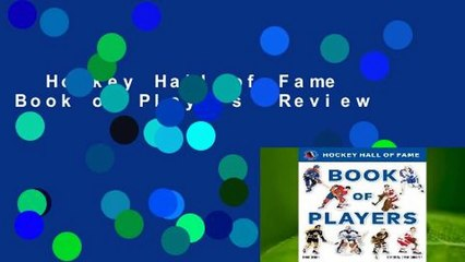 hockey hall of fame book of players review