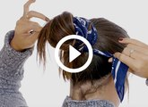 Two Easy, Adorable Ways to Tie Your Hair with a Scarf